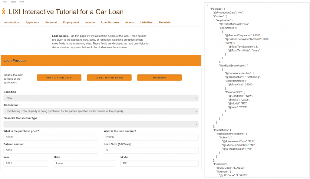 car loan screenshot